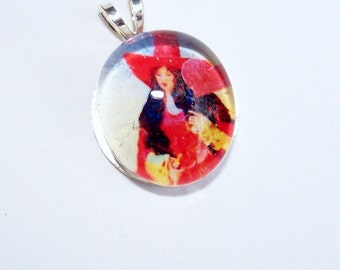 Witch of Hearts Print Pendant