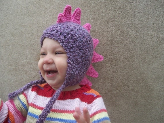 Dragon Hat in Lilac - Dino Hat for Girls, Dragon Costume, Animal Hat