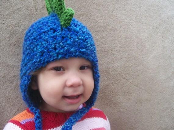 Dragon Hat in Deep End Blue - Rawr, Ferocious Dinosaur Hat, Spike Baby Hat