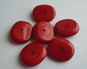 vintage lucite cranberry discs - 6