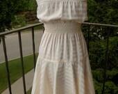 Cream Dress for WildFeatherBeads\/CrazyJaneKnits