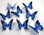 5 x 3D Ulysses Stick on Butterflies, Wedding Cake Toppers, 3D Wall Art