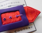 Purple passion belt hair clip
