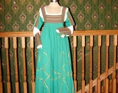 Reserved for Orluna - Green Juliet Italian Renaissance Gown - OOAK