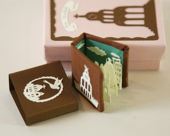 Miniature Book. Collector Quality. One of a Kind. With Papercut Elements.