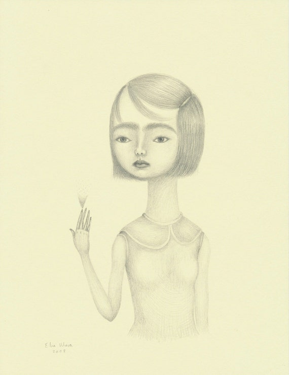 Original Drawing. One of  a Kind. Pencil on cotton paper.