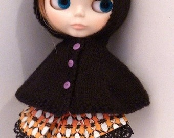Halloween Blythe Hooded Cape