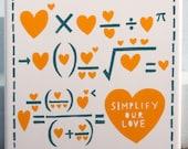 Simplify Our Love ceramic tile