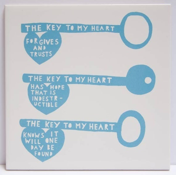 The Key To My Heart Tile