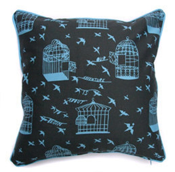 Our Adventure Cushion Cover (Blue/Grey)