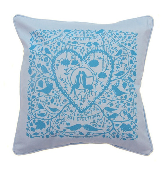 We Had Everything Cushion Cover (Blue/Blue)