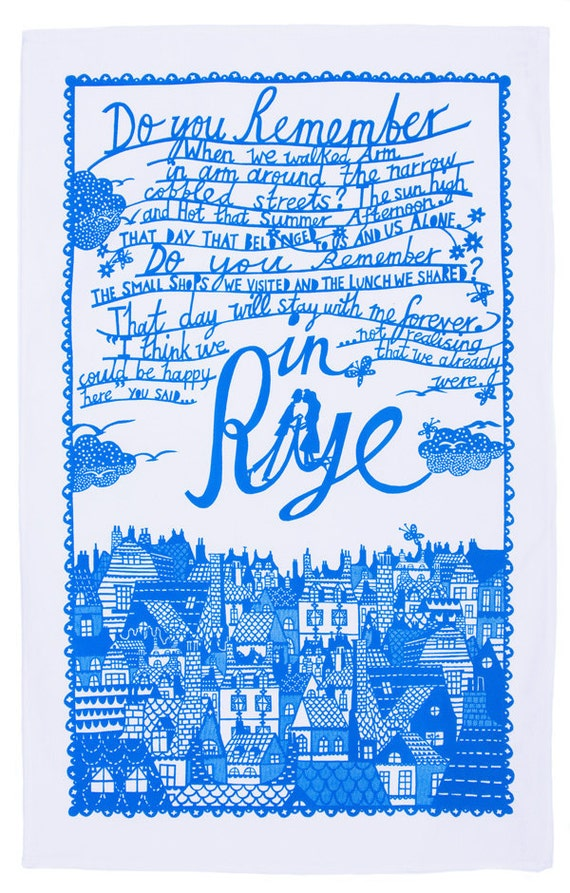 In Rye Screen Printed Teatowel
