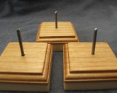 Handmade Wooden Bead Stand Set of 3 for Lampwork Beads by Jason Powers SRA Powers Art Studio