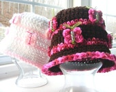 Crochet Pattern Beaded Butterfly Hat, No Applique Needed 12mo  tween Permission to Sell No.31
