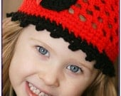 Crochet Pattern Minnie Mouse Applique Hat Easy Preemie to Adult XSmall No.33