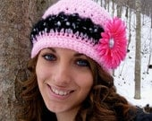 Birthday Sale 1.20 - Crochet Hat Patterns - Slouchy -Preemie to Adult Flower Attachment Tutorial -  Instant Download No.27