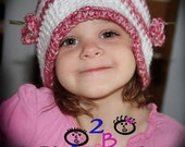 Butterfly Crochet Hat Pattern Beaded Toque No Applique Needed Mini Tute for Butterflies with Beads Permission to Sell No.36