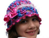 Crochet Hat Pattern PDF Easy Cloche Childs sz 2 toddler thru 7 years Bubble Gum Aspirations Permission to Sell Finished Product No.37