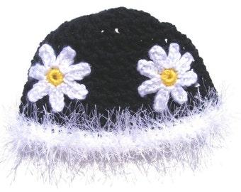 Crochet Pattern, Daisy Hat, Retro 2t thru 7yrs Patterns Instant Download No.38