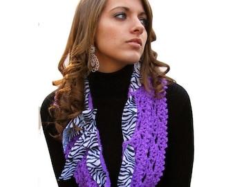 Crochet Pattern - Infinity Scarf Pattern - Bow Clip Tutorial - KrissysWonders - Buy 2 Get 1 Free Crochet Pattern Instant Download PDF No. 46