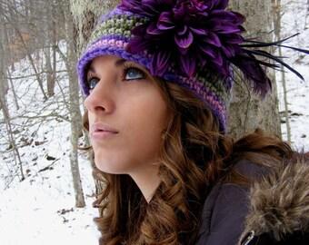 Womans Crochet Hat Pattern Flapper Style Cloche Toque Digital File PDF Preemie Infant to Adult No.19
