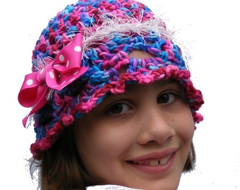 Crochet Hat Pattern PDF Easy Cloche Childs sz 2 toddler thru 7 years  Permission to Sell Finished Product No.37