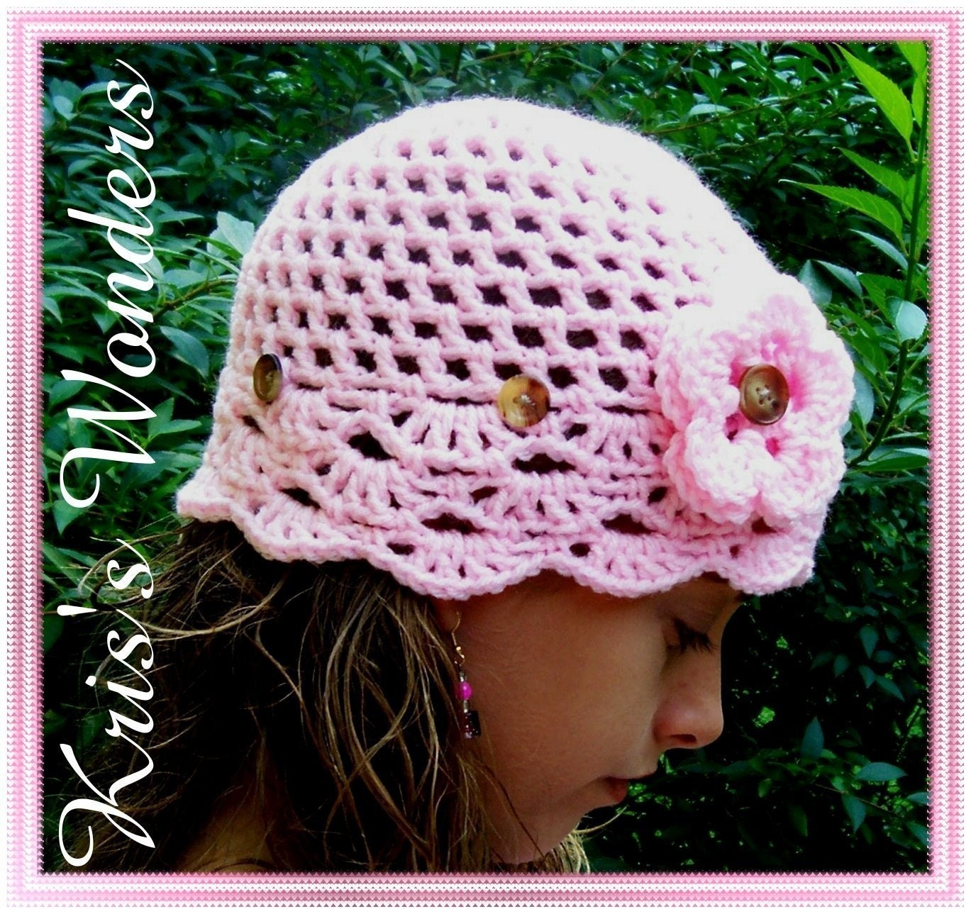 Crochet Pattern Sun Hat : Crochet Hat Pattern Sun Hat with Fan Edge Crochet Pattern
