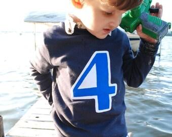 Birthday Number Shirt- Long Sleeve 1st 2nd 3rd 4th 5th 1 2 3 4 5 T Shirt