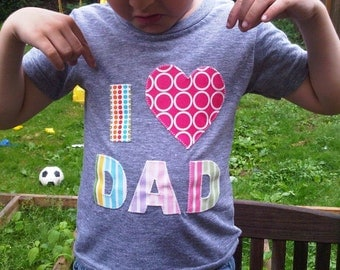 Valentine's  Day Mom Dad Pink and Red Love Shirt Valentines Heart