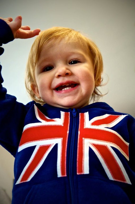 Back to School Children Clothing Royal Union Jack Flag Hoody for Kids or Infants