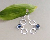 "Sterling Silver & Swarovski Crystal Earrings - ""Blue Magic"""