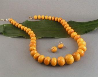 "Golden Dyed Jade Set - Rondelle ""Taste the Rainbow"""
