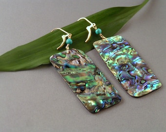 Mother of Pearl Panel Earrings