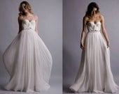 Annie Wedding Gown Silk Hand Gathered Bustier Gown