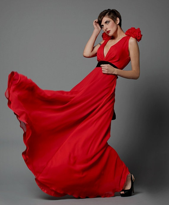 Silk Rose Gown Made to Order