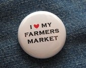 I Love My Farmers Market pin