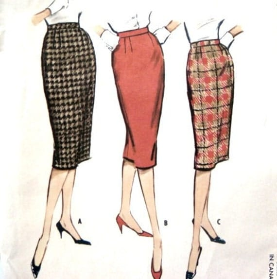 pencil skirt pattern vintage 50s skirts in three styles 25