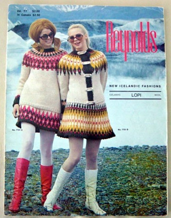 Groovy 70s Icelandic Knitting Pattern Book Lopi Wool Retro Fun
