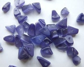 Purple Violet Cats Eye Glass Chip Beads - Sale Price