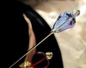 Victorian Wonderland Blue Mad Hatter Hat Pin I