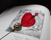 Queen of Hearts Bling Tarts Wonderland Victorian Hat Pin