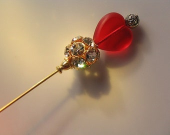 The Queen of Hearts Bling Tarts Victorian Hat Pin