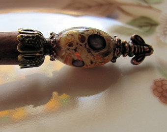 Victorian Bees in the Garden Hair Stick or Shawl Pin