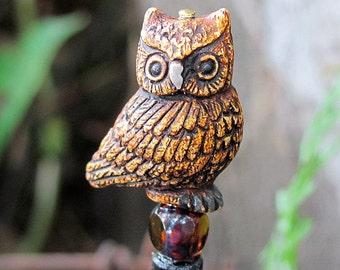 Owl Eyes Hair Stick or Shawl Pin
