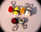 i heart SUSHI stitchmarkers - Yarn Lust Trinkets