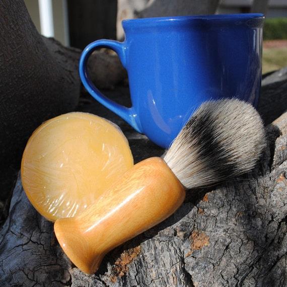 Shave Brush - Osage Orange Silvertip Badger Hair Shave Set
