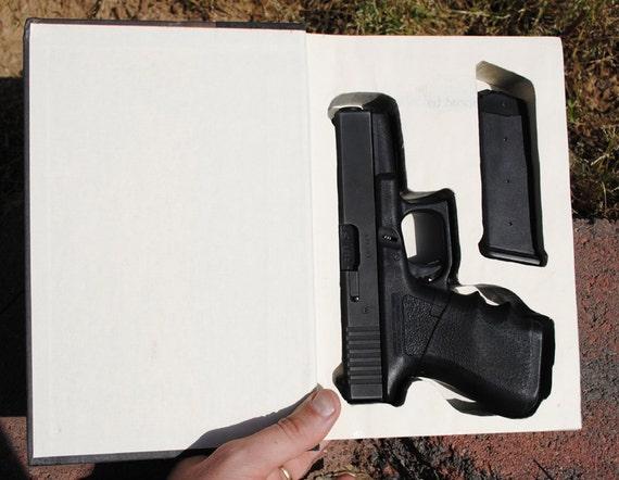 Hollow Book Safe Gun Storage For A Glock 19 Hollow Secret
