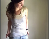RESERVED for Lucy - Ecru Oscillate - Tank - TShirt