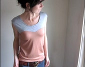 Dusty Rose and Gray Oscillate Shirt