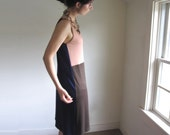 Rose Color Block Tank Dress - Made to Order